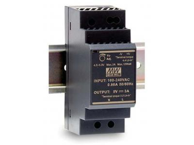 HDR-30، منبع تغذیه ریلی مینول 30 وات، HDR-30-24، منبع تغذیه ریلی مین ول 24 ولت 1.5 آمپر، Mean Well